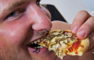 Pizza serangga...yummy!! (thestudentroom.co.uk)