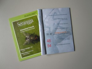 SERANGGA edisi September 2011 sampul dan menu